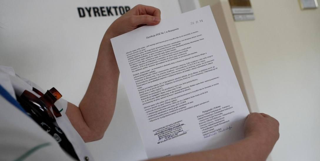 Petycja pielęgniarek ze Szpitala Miejskiego w Rzeszowie.