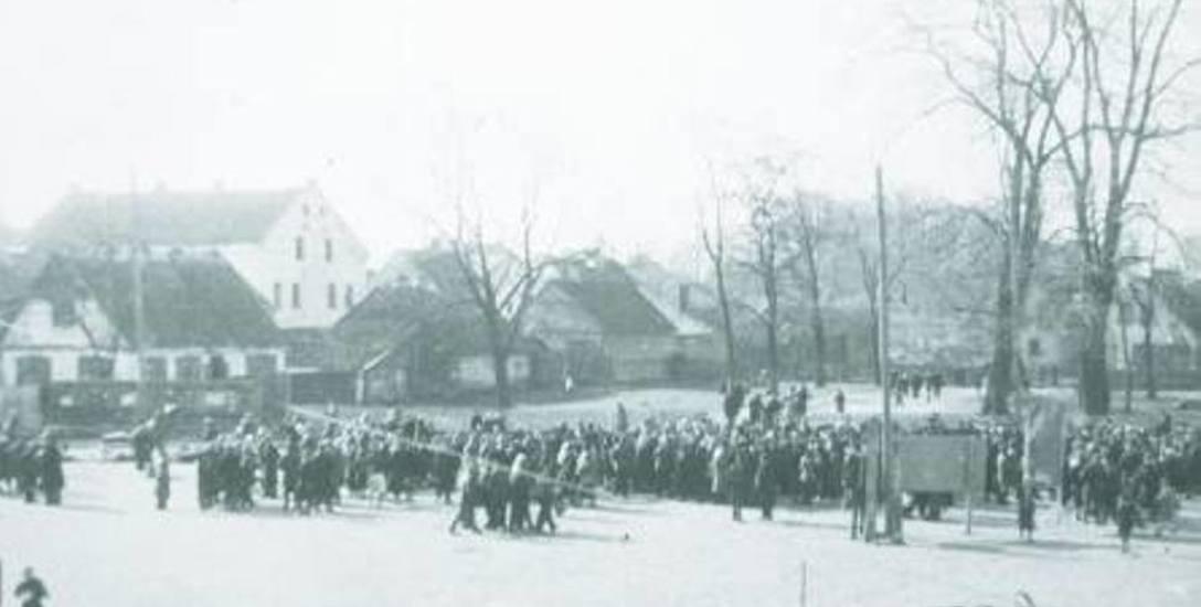 Rynek Sienny w czasie okupacji niemieckie