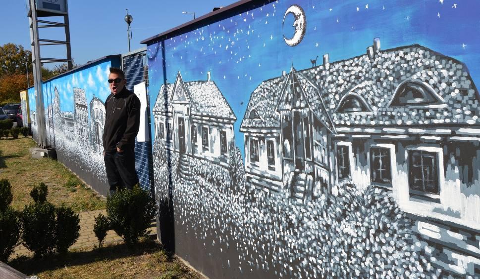 Film do artykułu: Suchedniowski mural już gotowy. Artysta Łukasz Kutwin skończył pracę, bierze się za kolejną ścianę