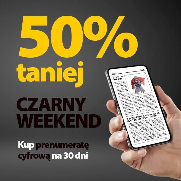 obniżka -50% na Czarny Weekend