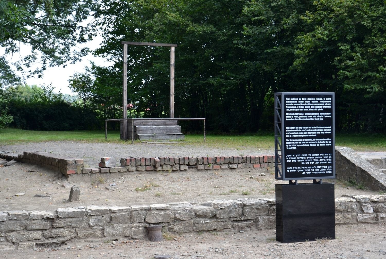 Miejsce egzekucji dowódcy obozu Auschwitz-Birkenau