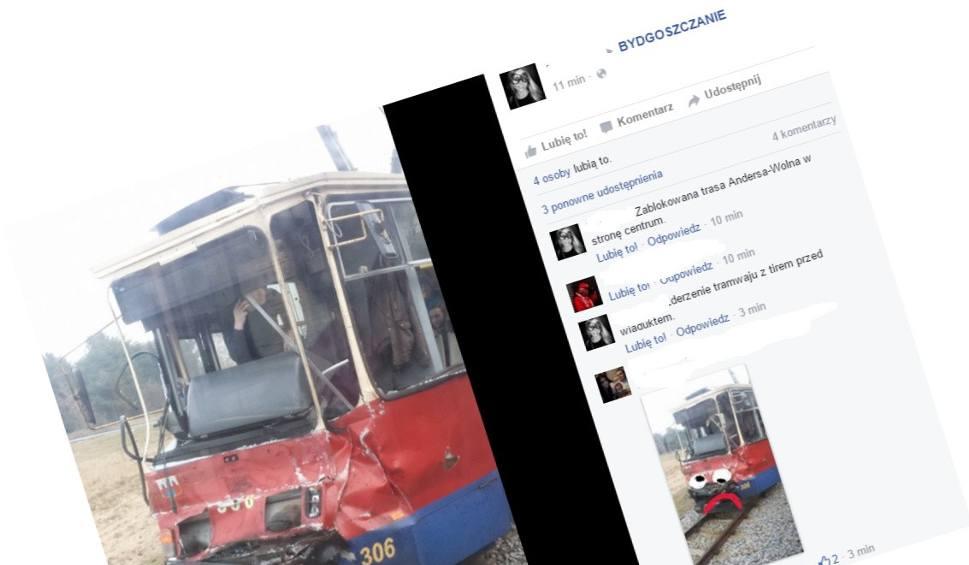 Film do artykułu: Wypadek z udziałem tramwaju w bydgoskim Fordonie! Są ranni [zdjęcia]