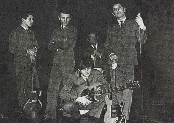 """Blackout, czyli """"niedobrzy, zbuntowani"""", chłopcy z Rzeszowa. Od lewej: Andrzej Solecki, Stan Borys, Krzysztof Potocki, Józef Hajdasz,"""