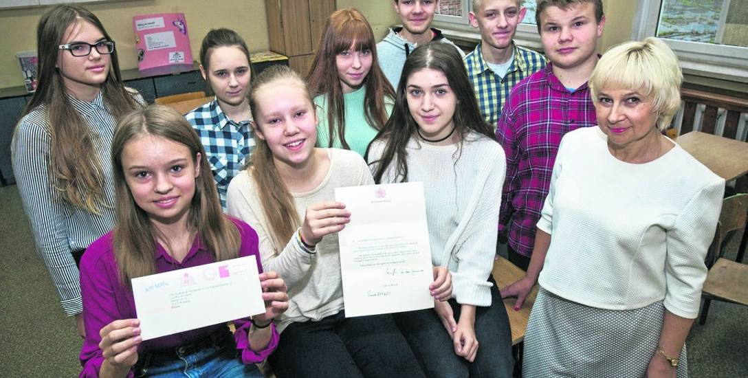 Gimnazjaliści z Koszalina wzruszyli Jej Wysokość