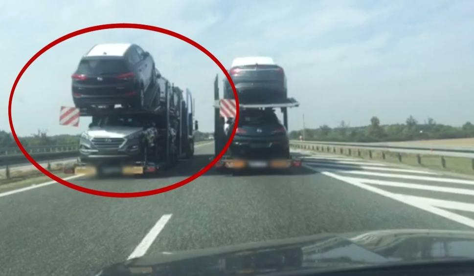 Film do artykułu: Szeryf drogowy blokował ruch na autostradzie A4 w rejonie Opola. Zobacz wideo [OPOLSKI PIRAT]