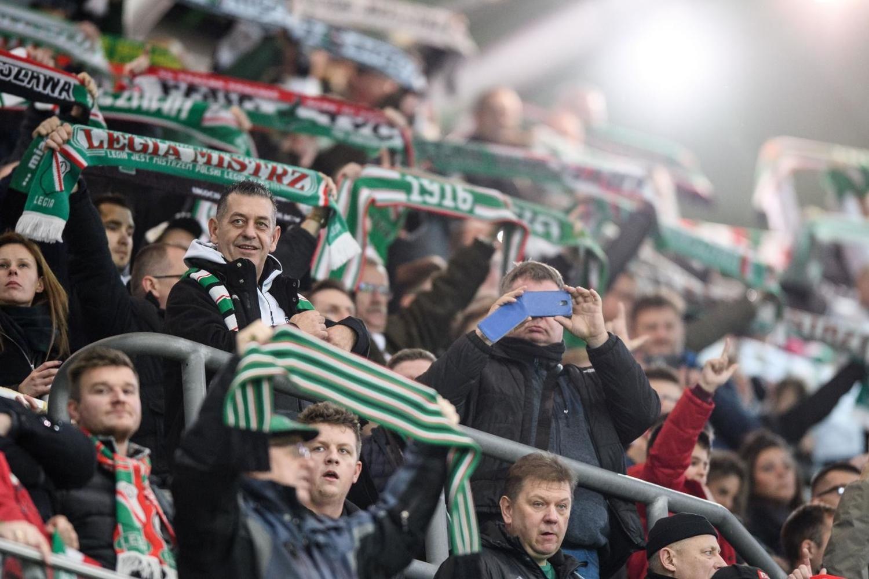 Kibice na meczu Legia Warszawa - Górnik Zabrze [GALERIA]