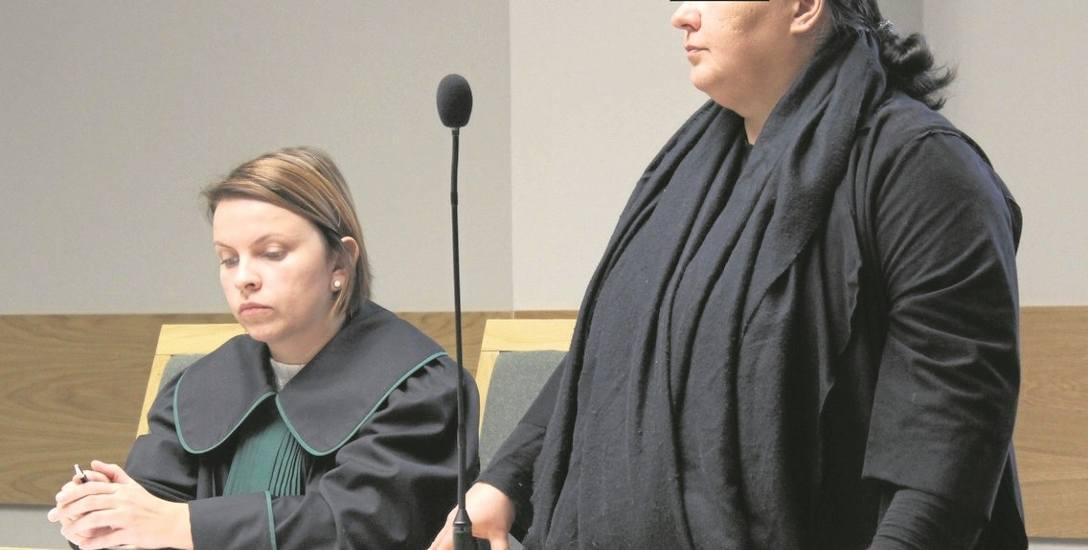 Oskarżona Sylwia G. na sali rozpraw krakowskiego sądu. Kobieta konsekwentnie nie przyznaje się do winy