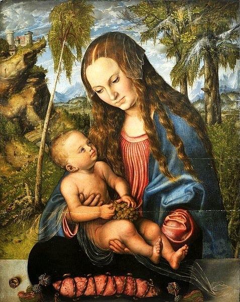 """""""Madonna pod jodłami"""" autorstwa Lucasa Cranacha Starszego"""