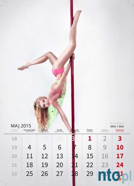 Kalendarz z tancerkami pole dance