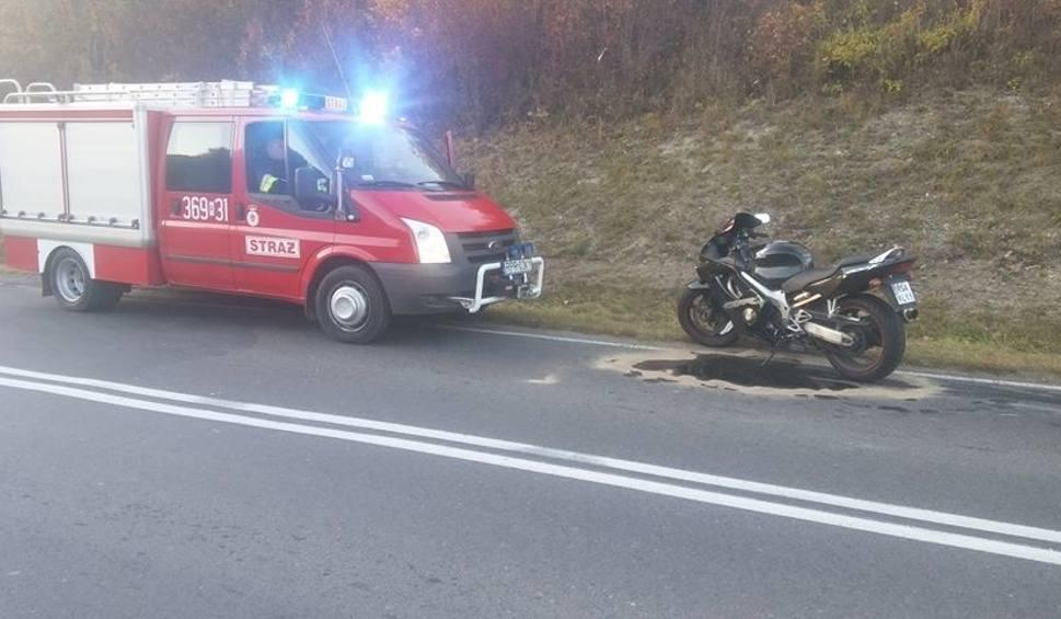 Film do artykułu: Wypadek z udziałem motocyklisty w Krasiczynie [ZDJĘCIA INTERNAUTY]