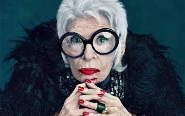 Iris Apfel po 90-tce reklamowała m.in. kosmetyki MAC
