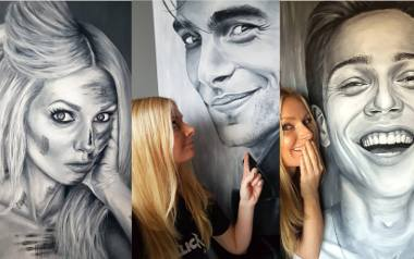 """Kwidzynianka Marta Judkowiak maluje niesamowite portrety. """" Kocham ludzi, ich różnorodność, portret ukazuje piękną indywidualność"""" - mówi"""