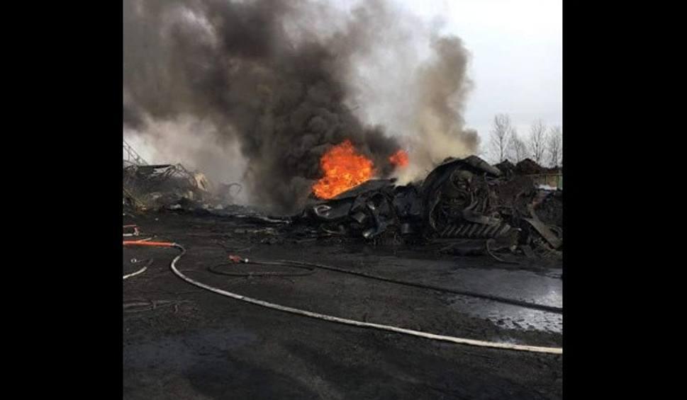 Film do artykułu: Pożar opon w Sernikach. Kłęby dymu znowu pojawiły się nad składowskiem