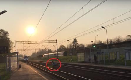 Katowice: Omal nie wpadł pod pendolino. Kompletny brak wyobraźni WIDEO