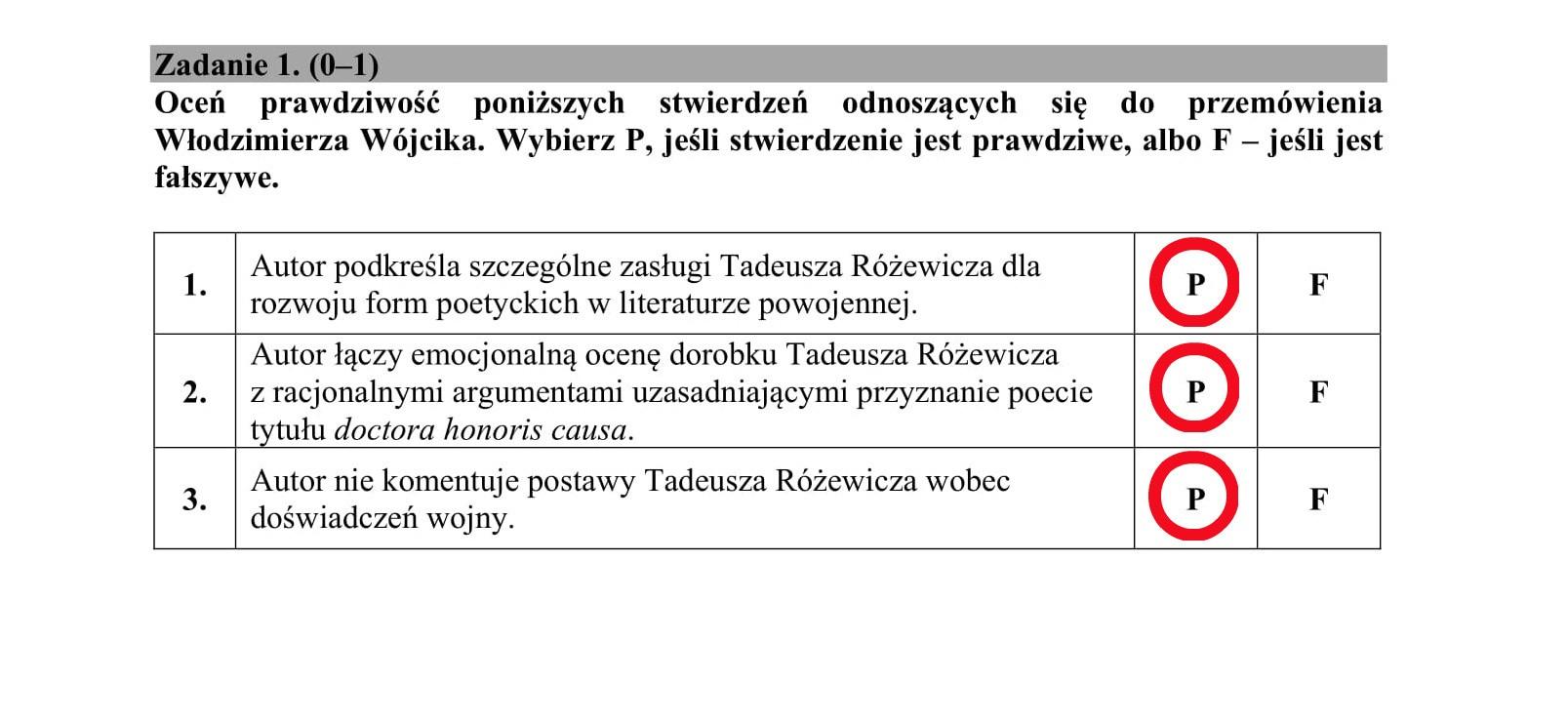 matura język polski 2021 klucz