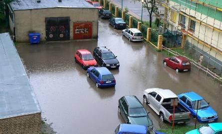 Parking po deszczu
