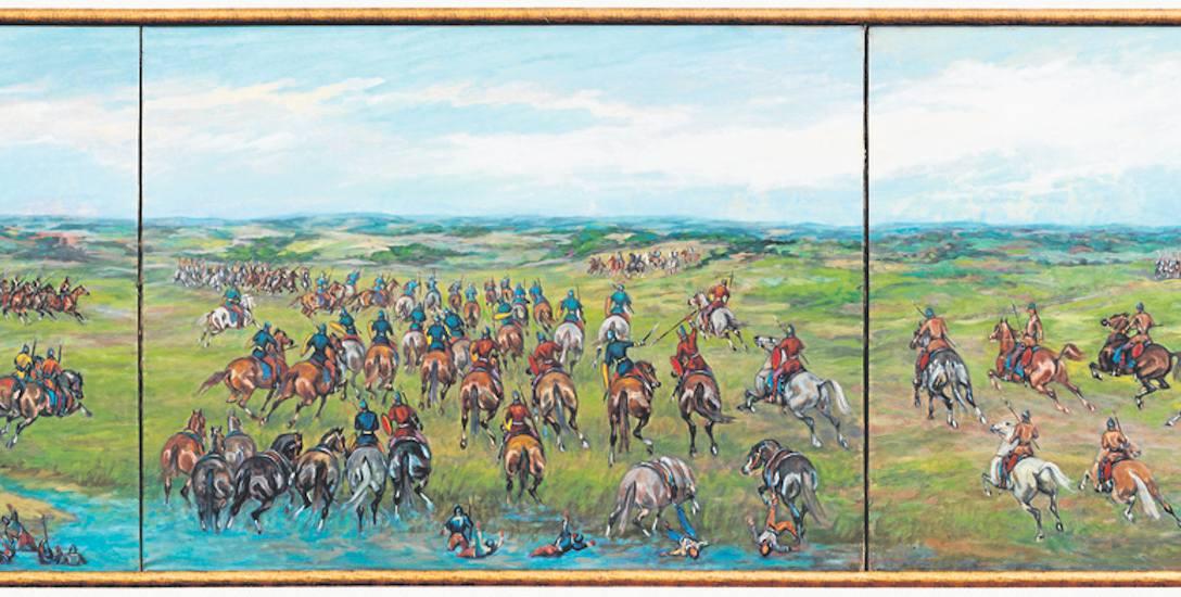 Panorama bitwy na Psim Polu