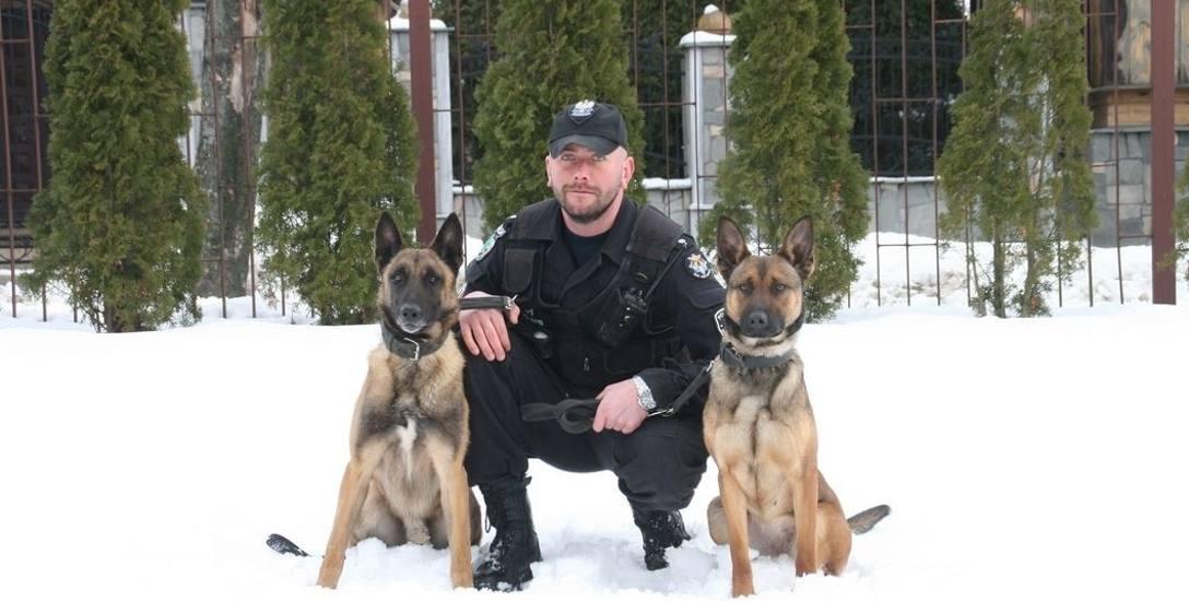 Oba psy służbowe st. asp. Piotrowskiego są rasy owczarek belgijski. Hades (na zdj. po po prawej) jest starszy i ma dłuższy staż