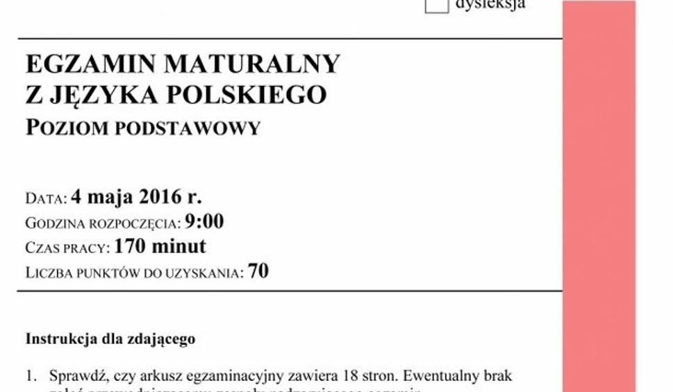 Film do artykułu: Matura 2016. Polski - ARKUSZE