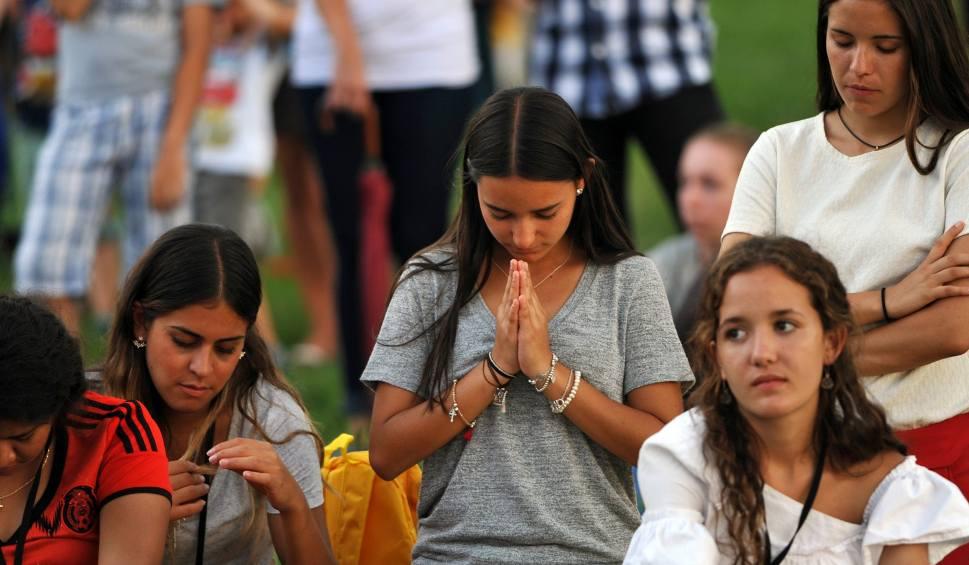 26.07.2016 krakowpierwszy dzien swiatowych dni mlodziezy . sdm swiatowe dni mlodziezy krakow wierni wiara chrzescijanstwo modlitwafot. piotr smolisnki