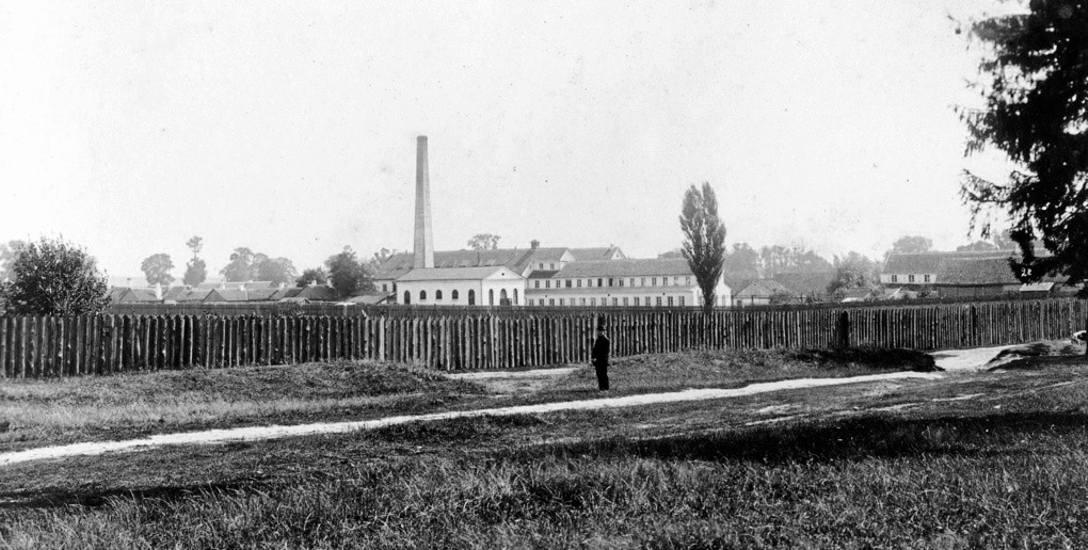 Fabryka Hendrichsa i Isenbecka na przedmieściu Nowe na zdjęciu Józefa Sołowiejczyka z 1897 r
