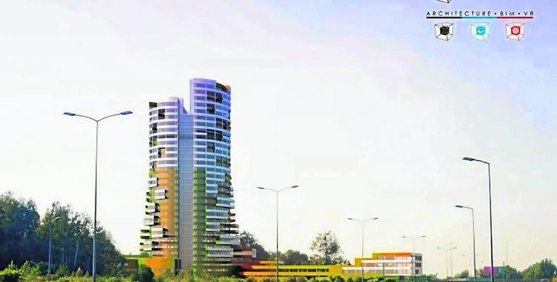 Radius - Silesian Business Center ma mieć wysokość 125 metrów i 31 kondygnacji.