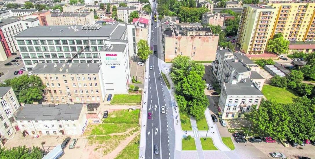 Ulica Nowotargowa będzie miała po jednym pasie ruchu w każdą stronę. Połączy al. Scheiblerów z al. Piłsudskiego.