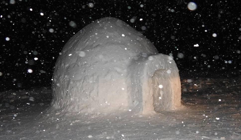 Film do artykułu: Mężczyzna buduje igloo w Karkonoszach (ZOBACZ)
