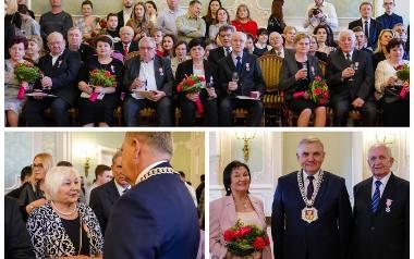 Złote gody 2020 w Pałacu Branickich w Białymstoku. Pary dostały medale na 50-lecie pożycia małżeńskiego (zdjęcia)