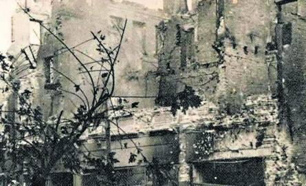 Warszawa, wrzesień 1939.  Zniszczona kamienica Bersona na rogu Marszałkowskiej i Al. Jerozolimskich