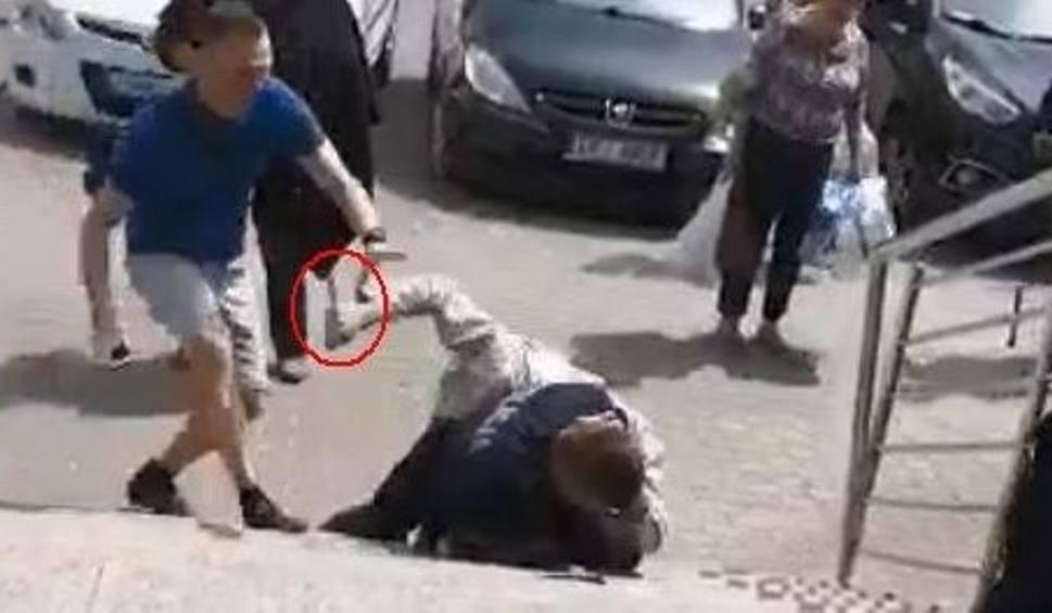 """Film do artykułu: Ranni policjanci w Busku. """"To jest radny... Nóż ma z tylu... Rany boskie!!!"""" Zobacz film z awantury [ZDJĘCIA]"""