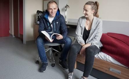 Gabriela Stec i Daniel Ossowski do akademika Politechniki Łódzkiej przyjechali tydzień przed rozpoczęciem roku akademickiego. Są zadowoleni z panujących