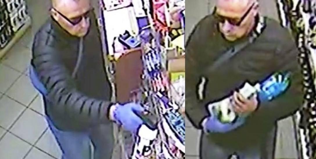 Mężczyzna widoczny na zdjęciu gazem zaatakował sprzedawcę w osiedlowym sklepie na Teofilowie.