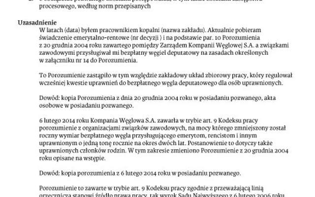 Górniczy Emeryci Po Deputat Pójdą Do Sądu Wzór Pozwu Dziennik