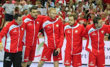 Reprezentanci Polski podczas meczu z Holandią w katowickim Spodku