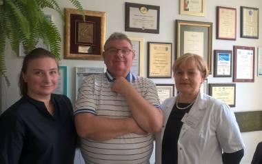 Na zdjęciu: prezes Stowarzyszenia Ewa Zajączkowska (po lewej), kierownik Kliniki Neonatologii Grażyna Pazera oraz Andrzej Domański - dyrektor Wojewódzkiego