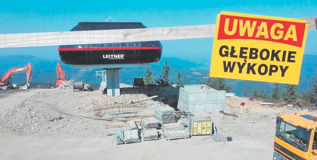 Szczyrk Mountain Resort i zima 2018/2019. Słowacy budują ściany przeciwwiatrowe w Beskidach