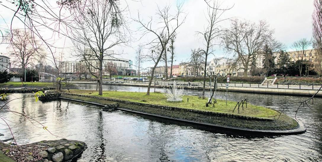 Zaniedbana wysepka św. Barbary - jeśli ma ożyć tak, jak chcą władze Bydgoszczy - powinna mieć kamery miejskiego monitoringu, plany ratowania osób z Brdy,