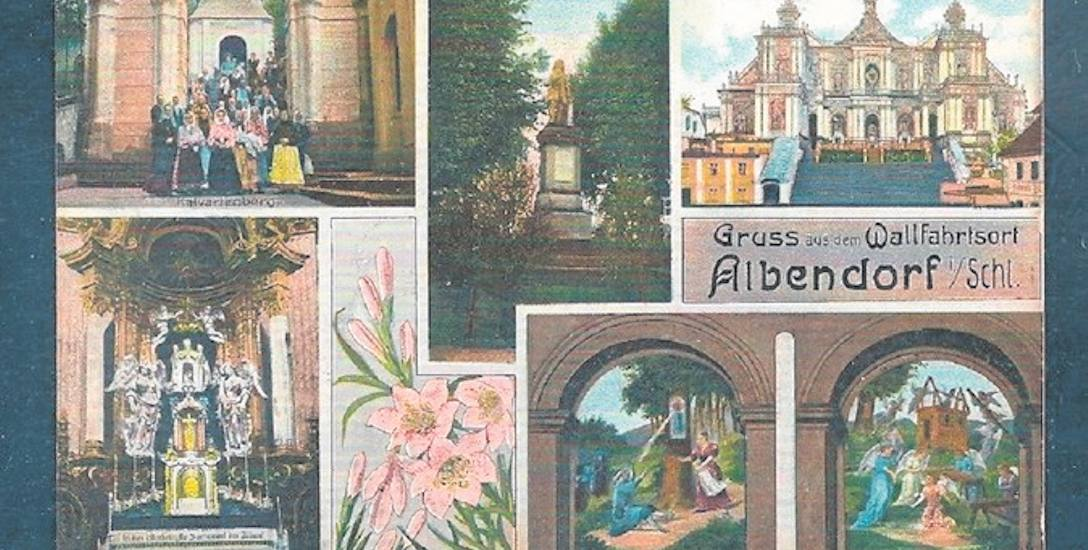 Wambierzyce na karcie pocztowej z początków XX wieku