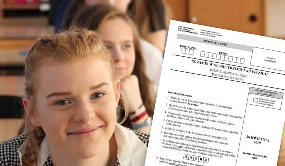 Film do artykułu: Egzamin gimnazjalny 2018 ANGIELSKI NIEMIECKI Odpowiedzi i arkusze pytań CKE POZIOM PODSTAWOWY I ROZSZERZONY