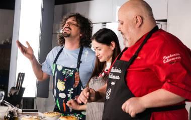 Nowy program kulinarny! Mariusz Kałamaga i Walerija Żurawlewa gotują z włoskim mistrzem kuchni