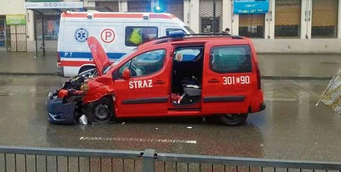 Wypadek  strażaków