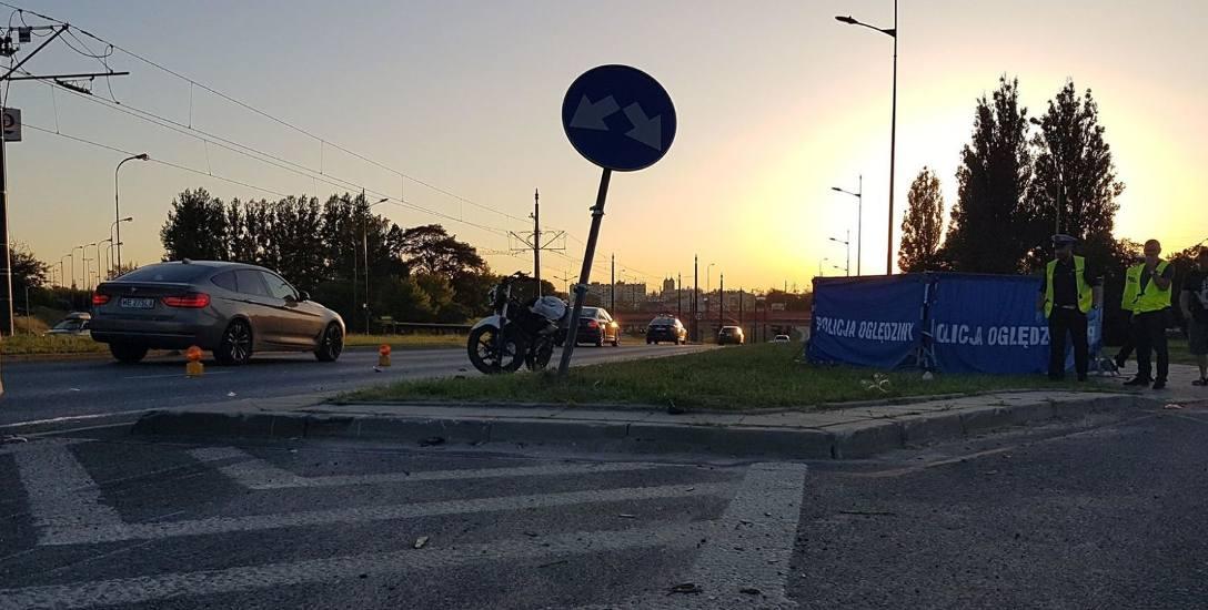 Śmiertelny wypadek motocyklisty na Widzewie. Motocyklista zginął na miejscu