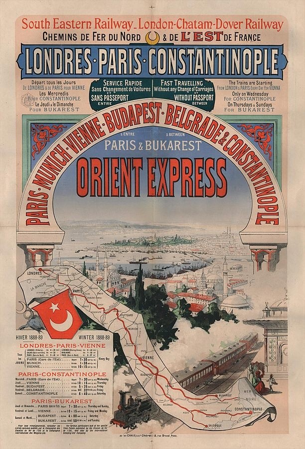 Plakat reklamowy Orient Expressu