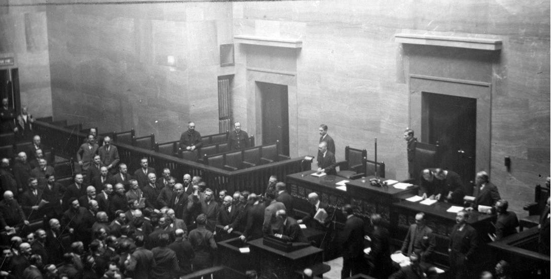 Posiedzenie Sejmu - marzec 1930 r.