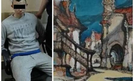 Kradzież w Kazimierzu Dolnym. Zdjął obrazy ze ściany i po prostu wyszedł