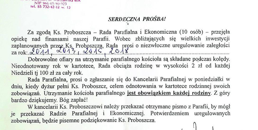 400 złotych, czyli jak nasza parafia obciąża emerytkę. Serdecznie