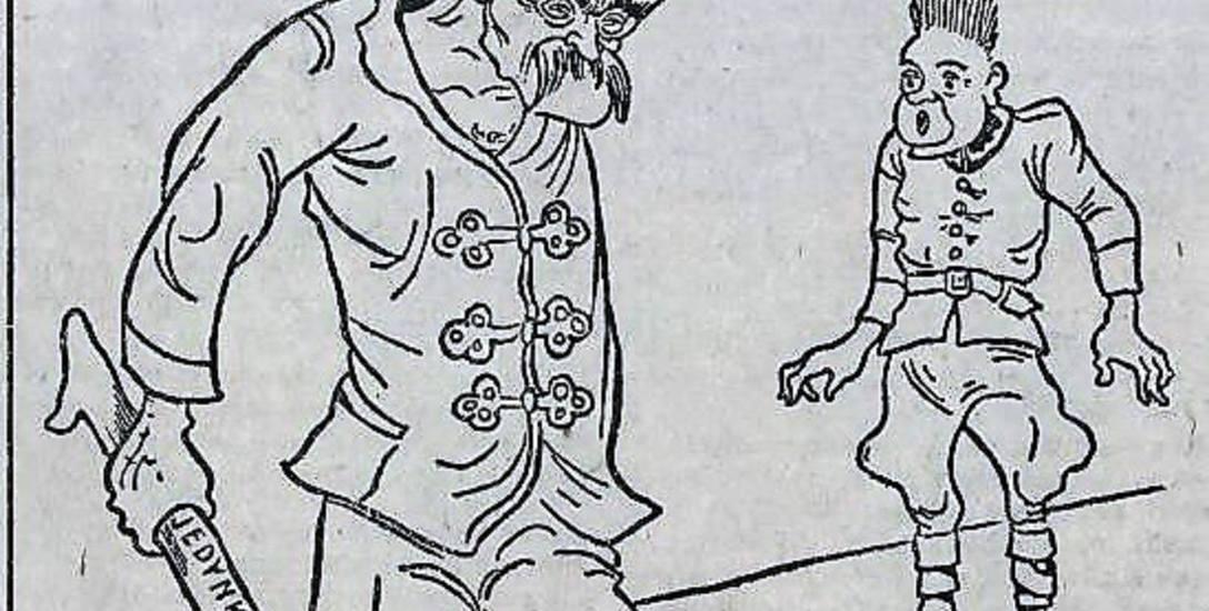 Od karykatur Wielkiego Orła aż roiło się w pomorskiej prasie