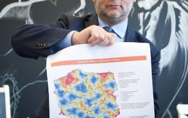 Wczoraj  Marek Biernacki prezentował mapkę wicepremiera Morawieckiego z terenami wykluczonymi komunikacyjnie