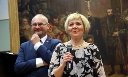 Dariusz Kotlarz, prezes Kuriera oraz Katarzyna Lewandowska-Sienkiewicz, wicenaczelna, podczas gali 60-lecia naszej gazety
